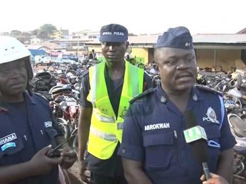 Police Seize 60 Motorbikes In Kumasi