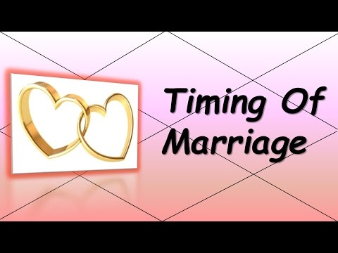 How to the predict the Timing of Marriage? (Vedic Astrology)