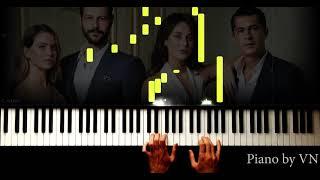 Çocuk Dizi Müzikleri - Gözyaşı - Piano Tutorial By Vn