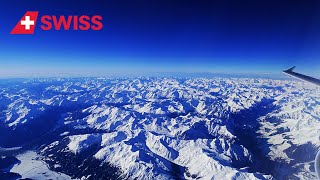 Swiss Airbus A321-200 - spectacular views of the Alps enroute to Israel