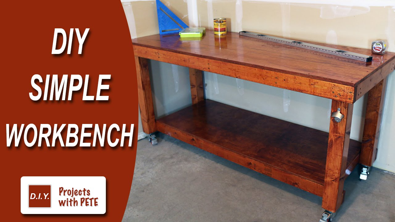 Diy Workbench With Wheels Diy Simple Workbench Woodworking Bench