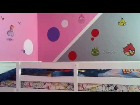 how-to-decorate-a-boy-and-girl-shared-bedroom-angry-birds-&-sofia-the-first-kids-bed-room-cute-ideas