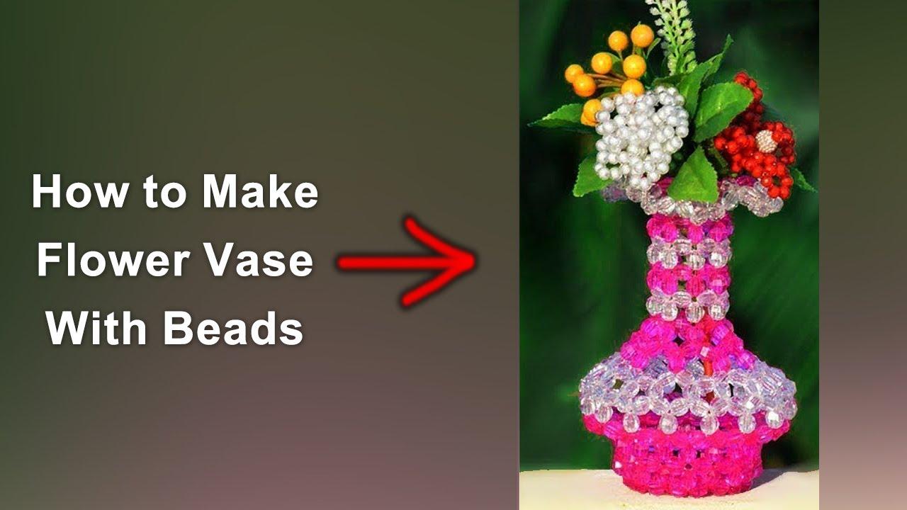 Download পুতির ফুলদানি || How To Make Beaded Flower Vase | Full Tutorial | Design 02