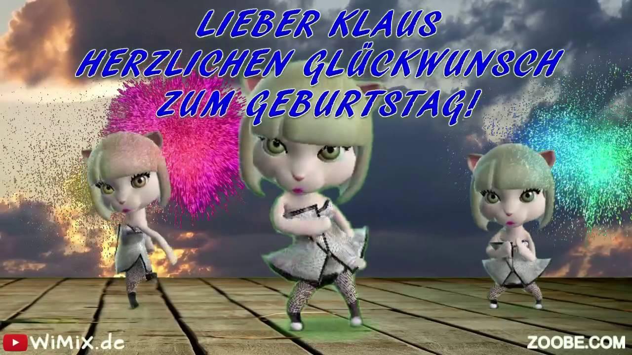 Wimix De Klaus 0001 Happy Birthday Herzlichen Gluckwunsch Zum