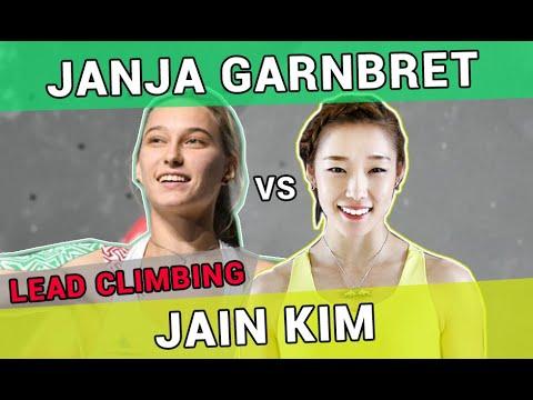 Janja Garnbret vs Jain Kim | Lead Climbing Technique Comparison | Xiamen 2019 | Inzai 2019