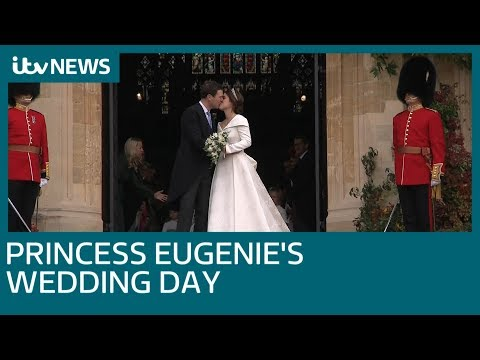 Princess Eugenie marries Jack Brooksbank in Windsor Castle royal wedding | ITV News