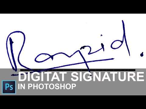 How to Create a Digital Signature in Photoshop CC 2015 [ In Hindi ]