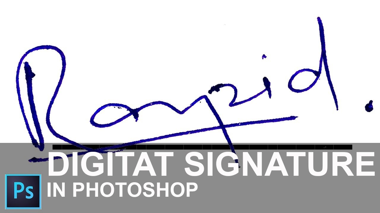 How to Create a Digital Signature in Photoshop CC 2015 [ In Hindi ...