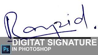 [ Hintçe ]Photoshop CC 2015 yılında Dijital İmza Oluşturma