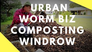 Urban Worm Farm Business Setting up My First Windrow