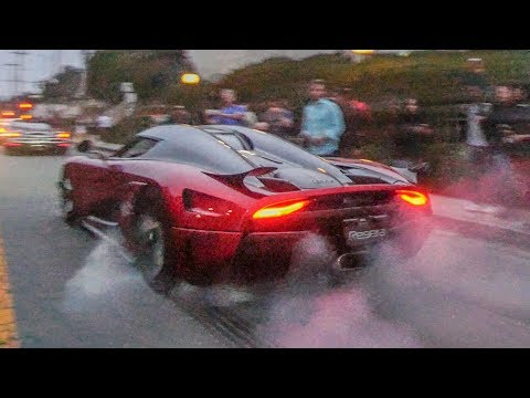 KOENIGSEGG REGERA DOES INSANE BURNOUT!!!