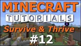 Minecraft Tutorials - E12 Cozy Cottage - Part 2 (Survive and Thrive II)