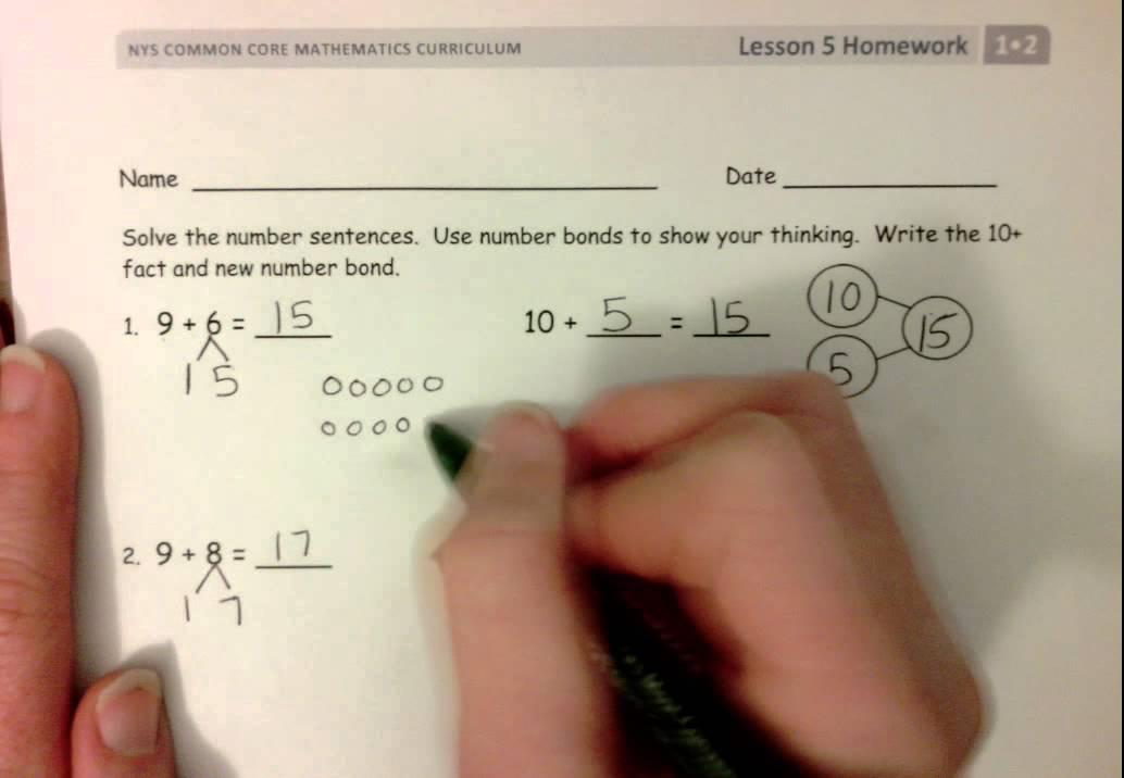 Grade 1 Module 2 Lesson 5 Homework
