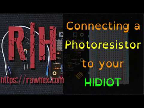 How to connect a light sensor to your HIDIOT