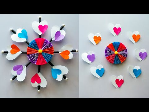 Diy paper flower wall hanging  / Simple and beautiful wall hanging / Wall decoration by KovaiCraft