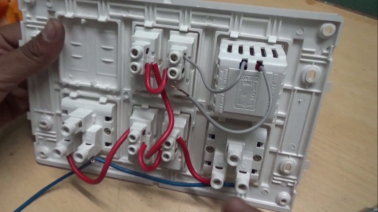 modular electric board connection youtube rh youtube com electrical wiring board electrical board wiring diagram