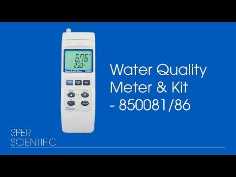 850081 And 850086 Water Quality Meter And Kit
