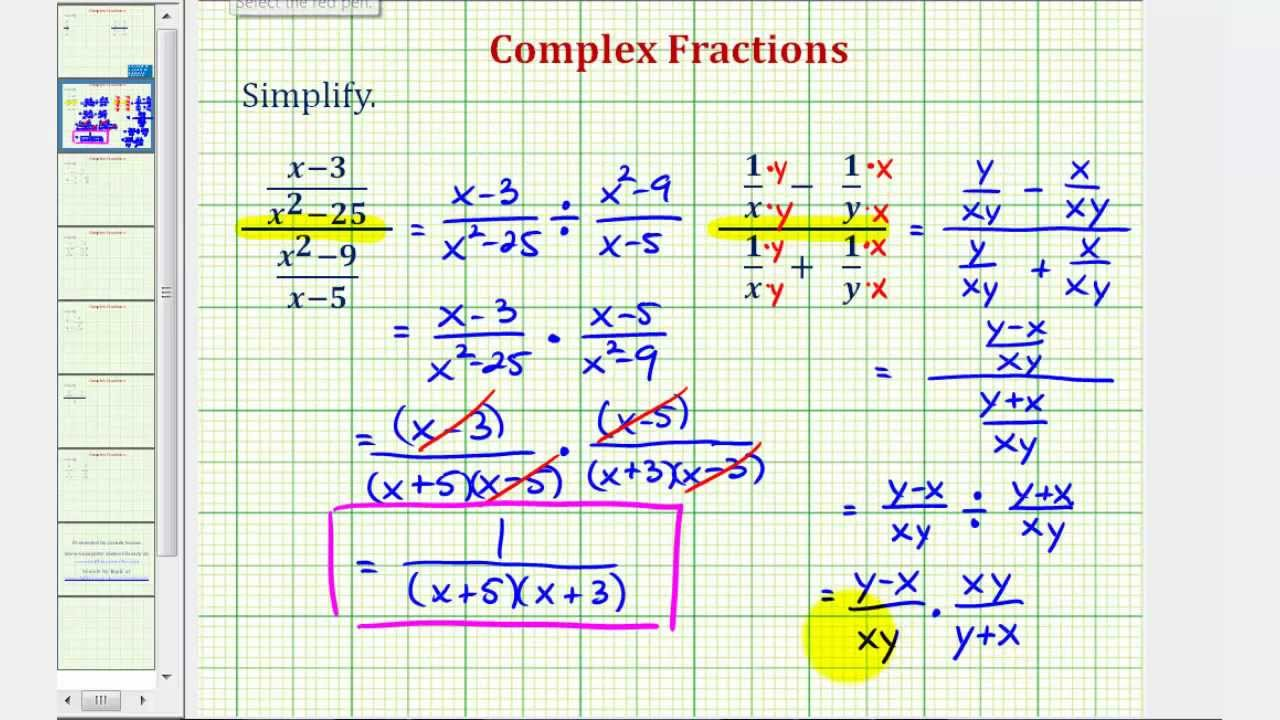 worksheet Simplifying Complex Numbers Worksheet ex 2 simplify a complex fraction variables youtube