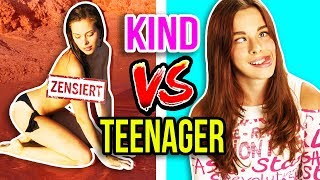 KIND vs. TEENAGER 😂 PEINLICHE MODEL FOTO SHOOTINGS! 🙈 | JUGENDSÜNDEN!