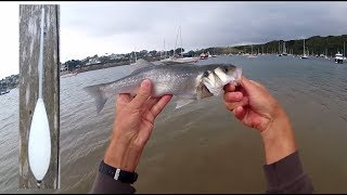 Shore Fishing - BOMBARDA Float Lure Fishing for Sea BASS with FLIES