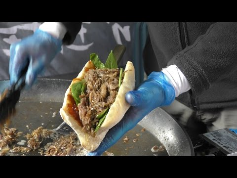 Duck Meat from Marseille, Caramelized Onion and Chutney. Great London Street Food
