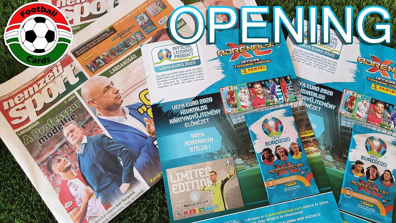 Panini Adrenalyn XL UEFA Euro 2020 Nemzeti Sport + Kártya   Opening