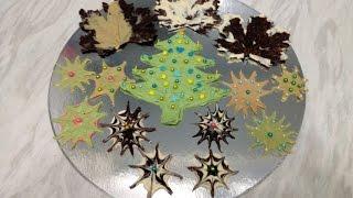 Шоколадные Украшения для Новогоднего Торта