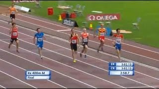 4x400m relay - European U23 Championships - Tampere 2013
