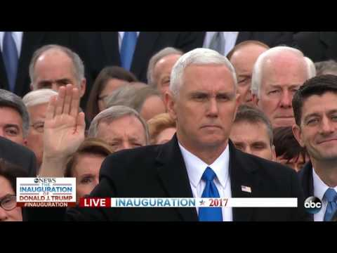 Mike Pence being sworn in as 48th Vice President of the United States of America