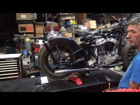 1954 FL panhead #101 finishing up a long term project build harley by tatro machine