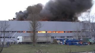 Groźny pożar zakładu w Świebodzicach