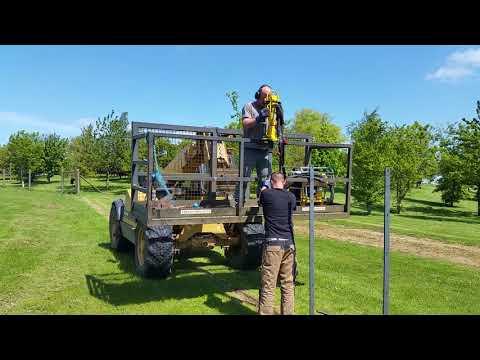 Installing  6ft Metal Deer fencing
