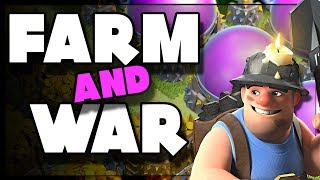 Crystal Mass MAX Miner Farming | Live War Attacks | Clash of Clans