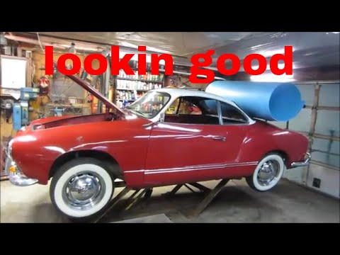 Rustoration of the 1965 vw karmann ghia headliner.