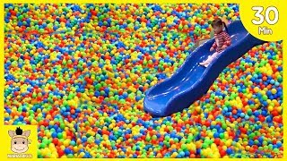 Indoor Playground Fun for Kids and Family Slide Play Colors Rainbow Balls | MariAndKids Toys