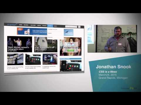 Jonathan Snook – CSS is a Mess (Software GR - March 24, 2015)