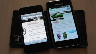 Apple iPhone 4 vs Samsung I9000 Galaxy S browser test