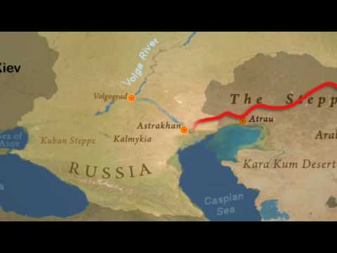 ROUTE MAP OF TIM'S JOURNEY BY HORSE FROM MONGOLIA TO HUNGARY