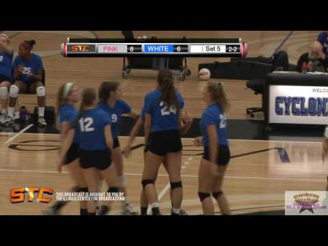 2015 Illinois High School Volleyball All Star game SET 5 12.6.15