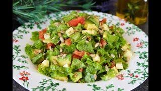 Легкий и Вкусный Салат с Авокадо и Брынзой