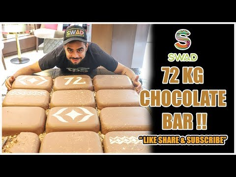 72 kg CHOCOLATE Bar | BIGGEST CHOCOLATE EVER | BEST Indian FOOD