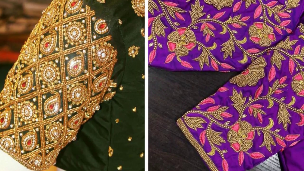 Awesome Embroidery Work Blouse Designs 2018 Blouse Designs For
