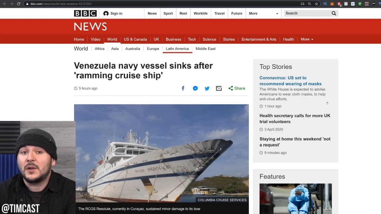 Venezuela RAMS Cruise Liner In Attempt To Seize It, Trump Deploys Navy