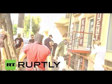 Ukraine: Masked men storm LGBT event in Odessa