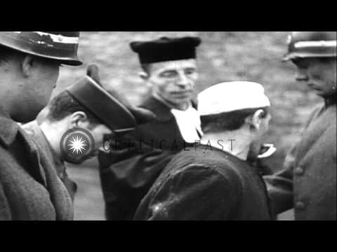 German spies are executed by a firing squad and Germans who killed American priso...HD Stock Footage