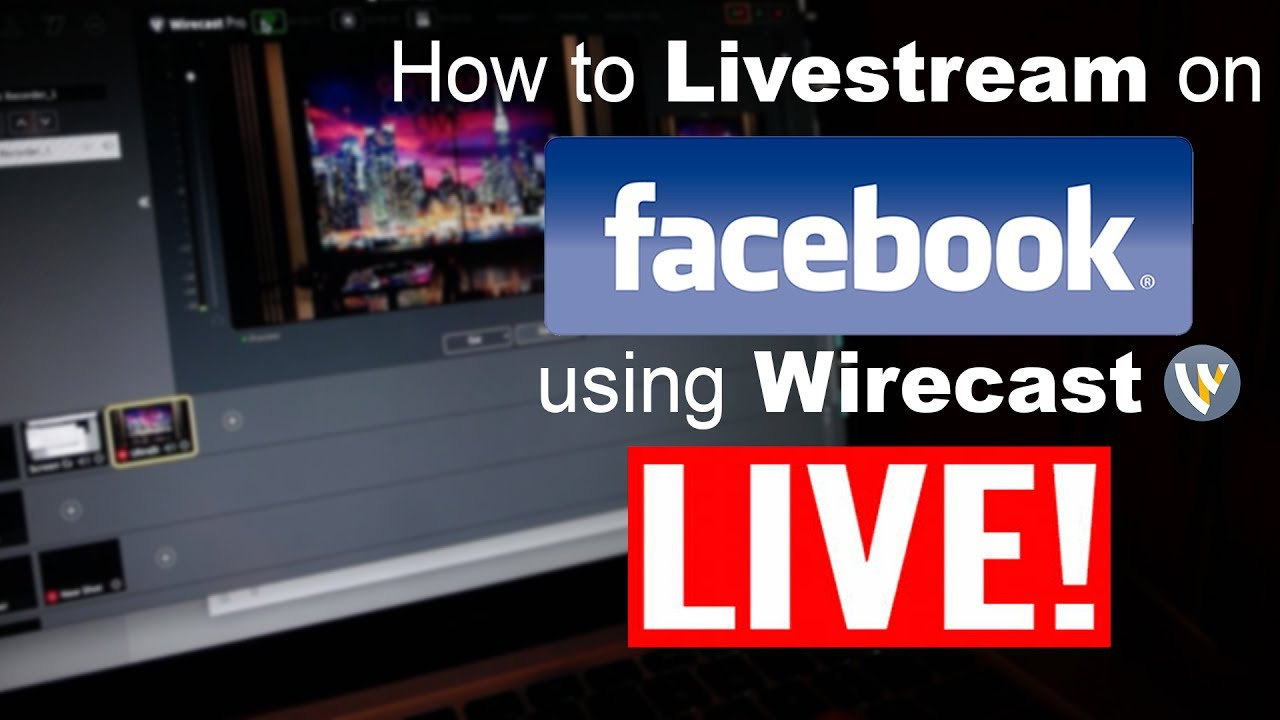 How to Livestream on Facebook using wirecast and an hd camera