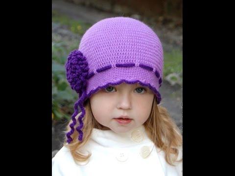 вязаные крючком детские шапочки Youtube