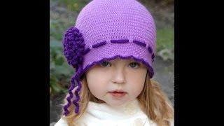 Вязаные крючком детские шапочки