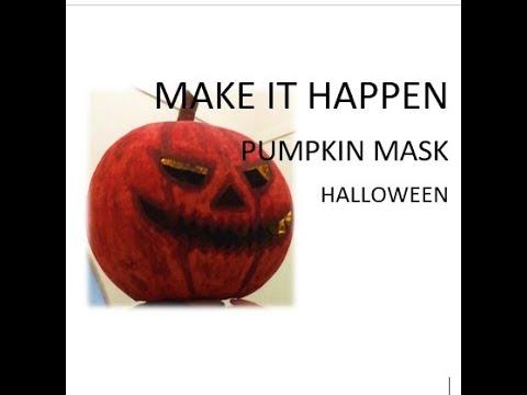 MIH – PUMPKIN MASK – HALLOWEEN DIY