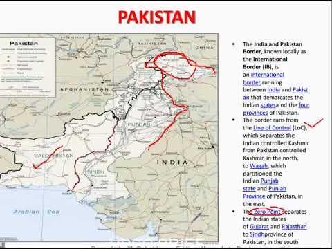 """""""PAKISTAN AND AFGHANISTAN MAP"""" for UPSC;SSC"""